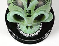 SPARKLE GRIN Modern Hero Skull