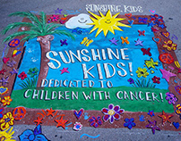 Naples Chalk Art - Street Painting with Sunshine Kids