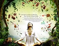 Kerala Tourism Ayurveda Campaign - Presentation Ad