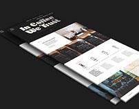 Web site material design
