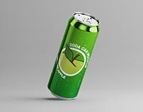 Long Soda Can Mock-Up
