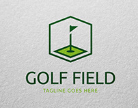 Golf Field Logo Template for Sale