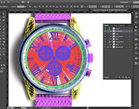 Vector Timepiece | Skeuomorphism | Illustrator
