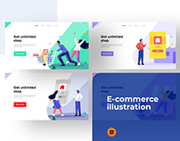 E-commerce illustrations