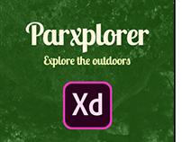 Parkxplorer: Showcasing Adobe XD in the design process