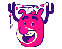 Jolly Reindeer iOS10 Animated Sticker Pack
