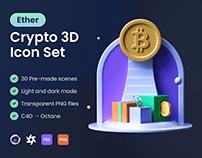 Ether: Crypto 3D Icon Set