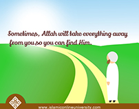 Islamic Online University Poster- Finding Allah