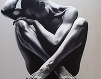Women. 2016. Oil on Canvas. 60x60 cm. Vanessa Vieira.