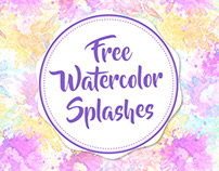 FREE WATERCOLOR SPLASHES