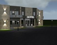 Architectural reconstruction, Hotel facade desing.