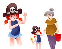 Pirate girl character sheet