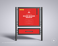 Free Board Banner Mockup