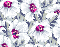 NZ Hibiscus Floral Print