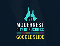 Modernest city of business google slide online template