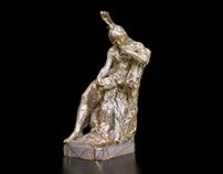 Hiawatha Augustus Saint-Gaudens Scan Mashup