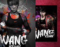 2 Posters for chinese kickboxing champion