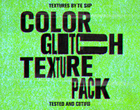 Color glitch textures