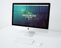 Free iMac Mockup On Desk