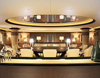 3D Modeling and Rendering - Yacht Interior 01