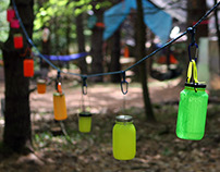 Fluorescent Rainbow Lanterns
