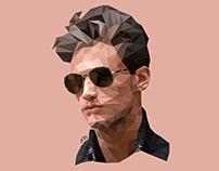 Low Poly Portrait: Garrett Neff