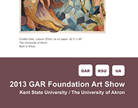 2013 GAR Foundation Art Show booklet