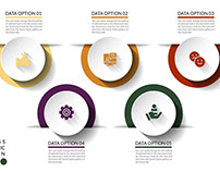 Free Infographics Template 5 Options With Circle
