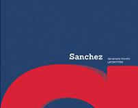 """""""Sanchez"""" Typeface Brochure"""