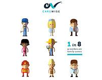 CareWise Identity. Pamphlet & Website