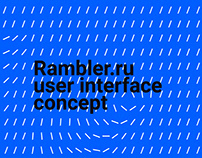 Rambler.ru redesign and full UI kit