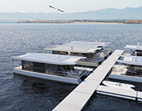 Houseboat for travel. Project HT