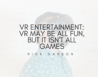 VR Entertainment | Rick Garson