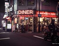 Kamimaezu at night