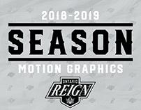 2018-19 | Ontario Reign Schedule Graphics
