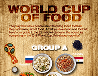 World Cup of Food: 32 Teams as National Dishes