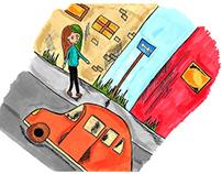 Illustration course at Forsbergs skola
