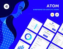 ATOM: Wireframe UI KIT