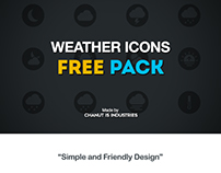 FREE! Weather Icons Pack by Chanut-is-Industries