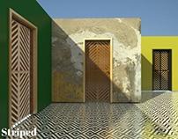 'Striped' doors