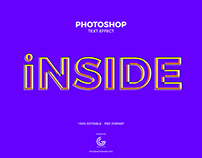 Free Inside Photoshop Text Effect