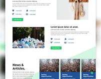 Natura. Landing Page