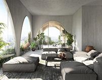 Arcade living room visualization
