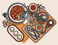 Food around the world - Illustration Challenge