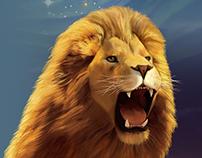 Лев для плаката на ММКВЯ