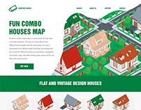 Isometric Combo Houses Map