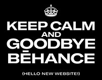 GOODBYE BEHANCE — HELLO NEW WEBSITE!