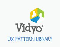 Vidyo UX Pattern Library