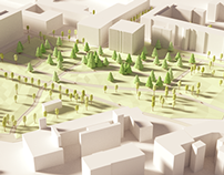Chambery low-poly - Part I: Parc du Verney