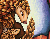 Proposed WildAid Poster Series: Patience the Pangolin